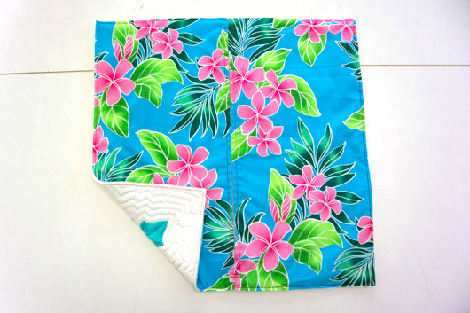 ハワイアンキルトキットのクッション&タペストリーの作り方10