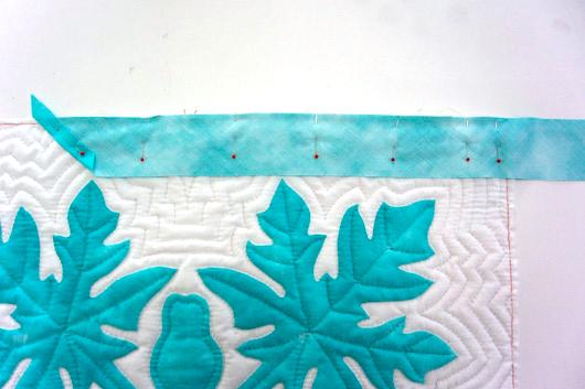 ハワイアンキルトキットのクッション&タペストリーの作り方11