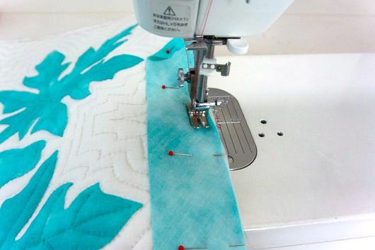 ハワイアンキルトキットのクッション&タペストリーの作り方12