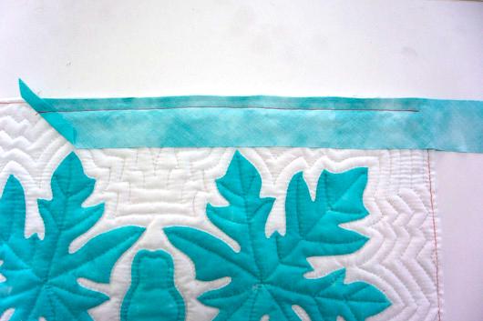 ハワイアンキルトキットのクッション&タペストリーの作り方13