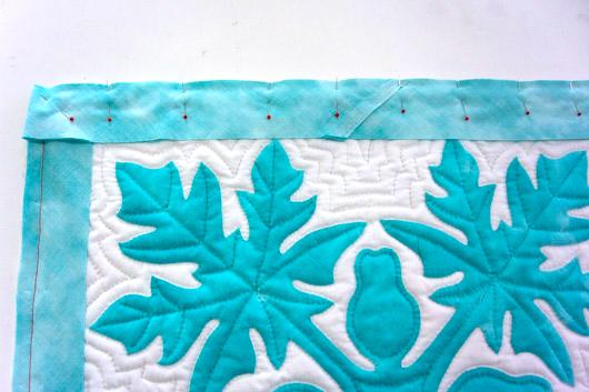 ハワイアンキルトキットのクッション&タペストリーの作り方16