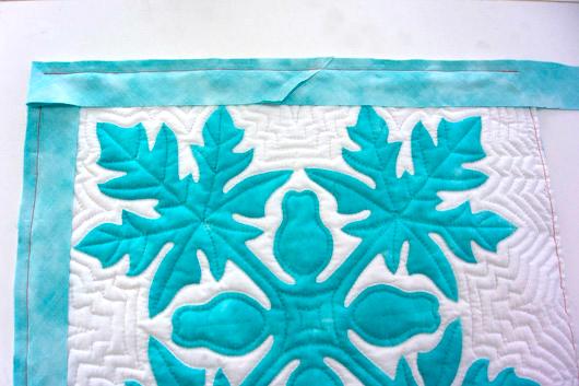 ハワイアンキルトキットのクッション&タペストリーの作り方18