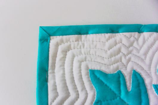 ハワイアンキルトキットのクッション&タペストリーの作り方21
