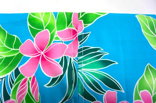 ハワイアンキルトキットのクッション&タペストリーの作り方4-1