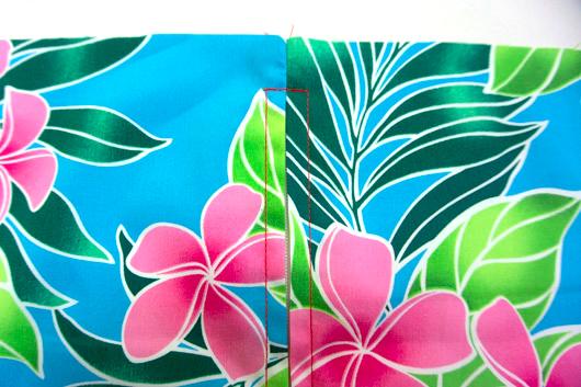 ハワイアンキルトキットのクッション&タペストリーの作り方8-2