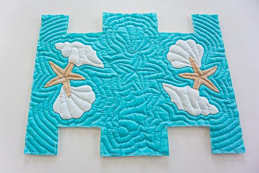 ハワイアンキルトスクエアポーチの作り方2