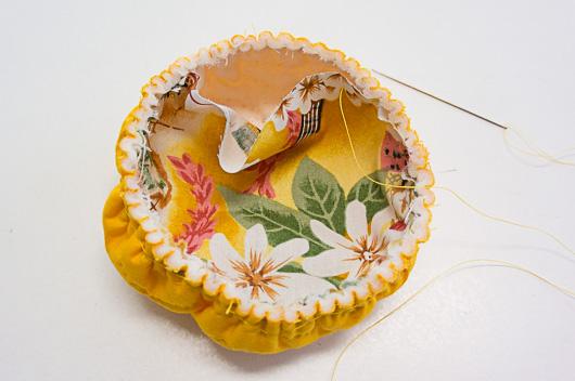 ハワイアンキルトピンクッションの作り方2